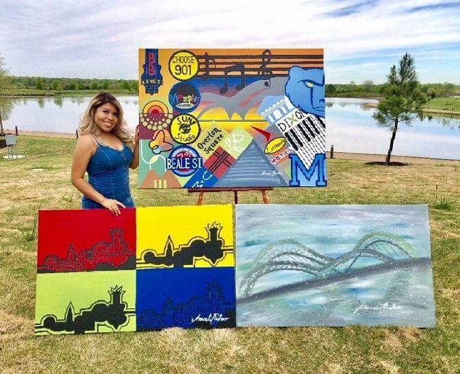 Araceli Pacheco: Artista latina local le pone color a Memphis