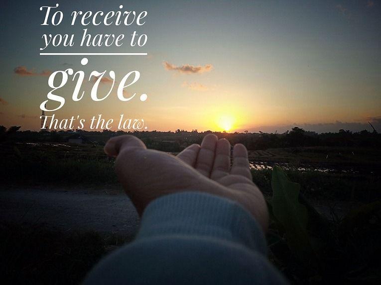 La importancia de dar y recibir