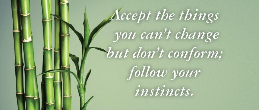 Fluir y aceptar sin conformarse