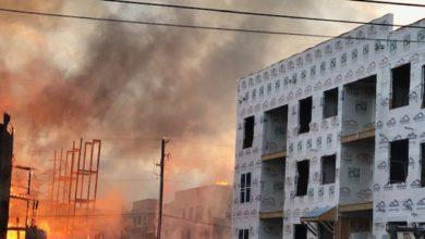 Photo of Incendio en sitio de construcción en el centro