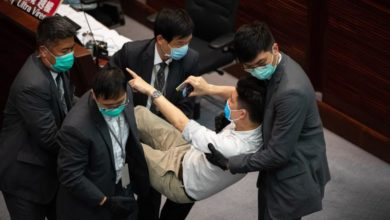 Photo of Seven opposition lawmakers expelled from Hong Kong Legislative Council