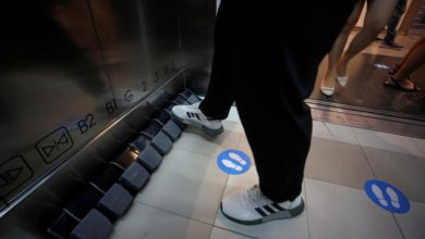 Photo of Elevators with foot pedals to fight COVID-19 in Thailand mall
