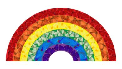 Photo of Damien Hirst releases charity rainbow series