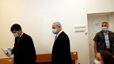Photo of Israeli prime minister Netanyahu on trial for corruption