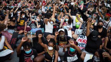 Photo of George Floyd protests swell across US as rage against racism rises