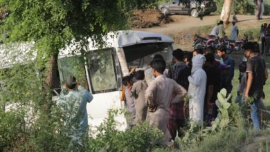 Photo of At least 19 dead as bus collides with train in Pakistan