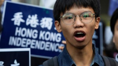 Photo of 4 students arrested in Hong Kong over 'inciting secession'