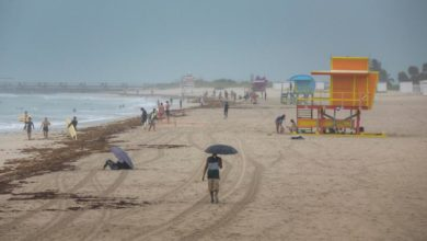 Photo of Isaias slows as it approaches Florida's Atlantic coast