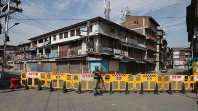 Photo of Curfew in Indian Kashmir on 1st anniversary of stripping autonomy