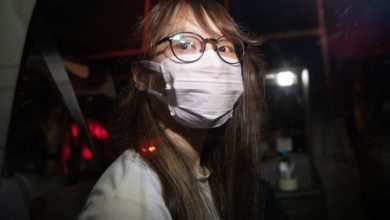 Photo of Prominent Hong Kong activist Agnes Chow arrested