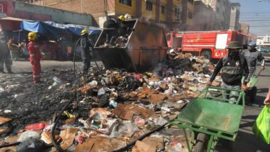 Photo of Bolivian city again fills with garbage amid health, political crises