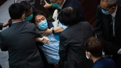 Photo of Hong Kong opposition lawmakers arrested for taking part in protests