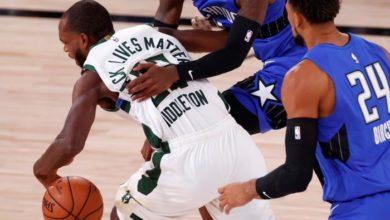 Photo of Milwaukee Bucks beat Orlando Magic as NBA playoffs resume