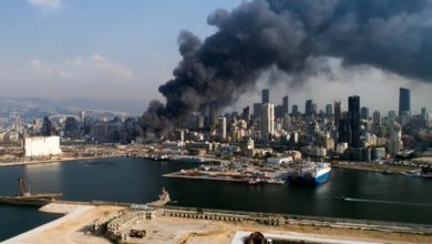 Photo of Fire breaks out at Beirut port month after major explosion