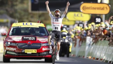 Photo of Hirschi wins Tour's longest stage; Roglic holds on to yellow jersey