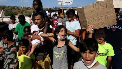 Photo of Moria refugees to enter makeshift facility after Covid-19 tests
