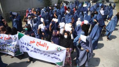 Photo of Women rally for peace in Afghanistan amid talks with Taliban