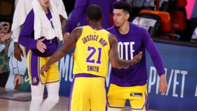 Photo of Davis, James shine as Lakers beat Nuggets in series opener