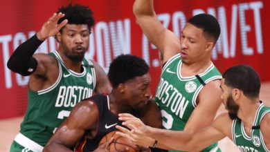 Photo of Top performances by Brown, Tatum earns Celtics first win