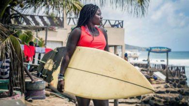 Photo of Khadjou Sambe: Senegal's 1st female professional surfer