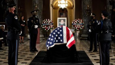 Photo of Ginsburg becomes 1st woman to lie in state at US Capitol