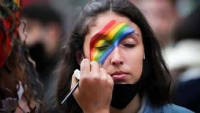 Photo of Uruguayans march for LGBT rights in colorful pride parade