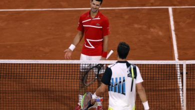 Photo of Djokovic tops 15th-seed Khachanov to reach French Open quarters