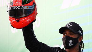 Photo of Hamilton equals Schumacher's record 91 wins at Eifel Grand Prix