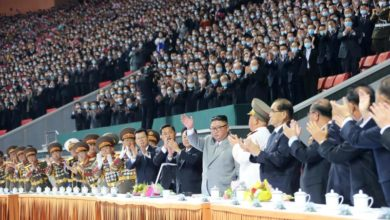 Photo of Kim attends mass games in Pyongyang
