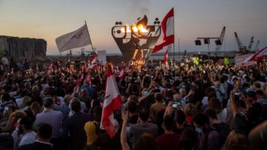 Photo of Hundreds take to Lebanon's streets to mark 1st anniversary of uprising