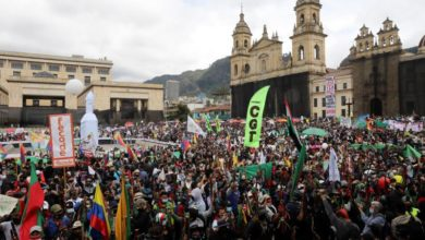 Photo of Thousands join nationwide protests against Colombian gov't