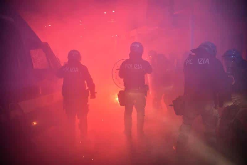 Clashes during protests across Italy against coronavirus restrictions