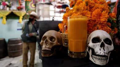 """Photo of Mexico's marigold """"pulque"""" another way for the living to remember the dead"""