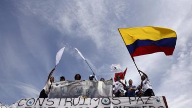 Photo of Former FARC rebels march from Medellin to Bogota to demand protection