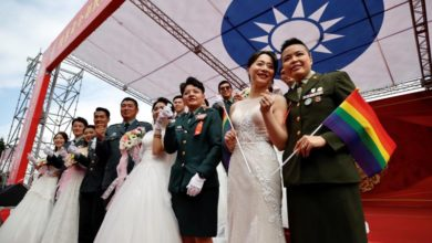 Photo of A historic 'I do' as Taiwan hosts first military same-sex weddings
